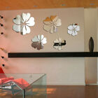 Room Decoration Removable Art 3d Mirror Wall Sticker Acrylic Mural Decal Flower