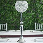 """30"""" tall Metallic Crystal Beaded Goblet Candle Holder Wedding Centerpieces SALE"""