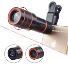 Cell Phone Camera Zoom Lens Kit, 4 in 1 HD 12X Optical Telescope Lens+ Fisheye+