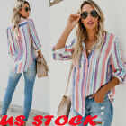 Womens Cotton Long Sleeve Tops Lady Button Down Casual Blouse Shirt Tshirt S-2XL
