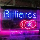 Billiards 9 Ball Game Room Pool Man Cave Bar Dual Color Led Neon Sign st6-i2590 $64.99 USD on eBay