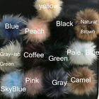 15cm Real Raccoon Fur Ball Pompom W Snap Button f Hat Shoes DIY Accessories