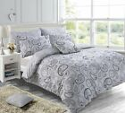 Paisley Grey/Black & Grey/Teal Duvet Cover Sets Reversible Pillowcases All Sizes