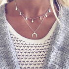 Fashion Womens Girls Multilayered Pendant Necklaces Alloy Chian Necklace 21-50cm