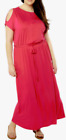 Dorothy Perkins Cold Shoulder Jersey Maxi Dress Pink US 18W, EUR 50 NWT $58