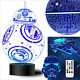 Star Wars Gifts 3D Lamp - Star Wars Toys 3D Night Light, 4 Patterns and 7 Color