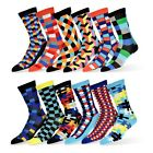 Robert Shweitzer Mens Fun Funky and Colorful Patterned Dress Socks 12-Pack