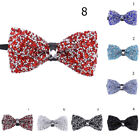 Men Crystal Bling Butterfly Knot Bridegroom Bowtie Shining Wedding Party Bow Tie