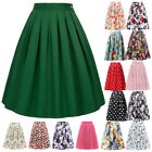 Womens Housewife Vintage 50s 60s Floral Skirt Lady Swing Pinup Retro Party Dress