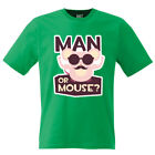 T- Shirt  TEE * HIPSTER MAN OR MOUSE * MINT size S up to XXL