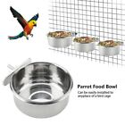 Stainless Steel Food Water Feeding Bowl Parrot Parakeet Feeder Cage Accessory