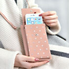 Leather Small Crossbody Bag Cell Phone Purse Wallet With Credit Card For Women