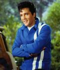 ELVIS PRESLEY RED & BLUE SPEEDWAY CLASSY COTTON JACKET WITH WHITE STRIPES