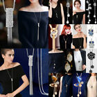 Women Ladies Long Necklace Pendant Chain Alloy Tassels Sweater Statement Jewelry