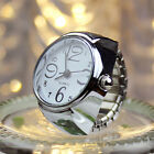 Dial Quartz Analog Watch Creative Steel Cool Elastic Quartz Finger Ring Watch