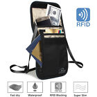 Family Passport Holder RFID Blocking Organizer Bag with Removable Neck Strap