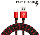 Type C Cable Fast Charger USB C Cord for Samsung Tablet iPad Air Pro - Red/Black