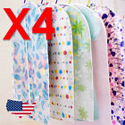 "4 pc Clothes Suit Garment Bag Dust Cover Protector flower dots pattern 51"" 130cm"