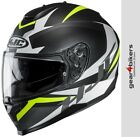 HJC C70 Troky Black White Fluo Yellow Motorcycle Helmet Sport Touring