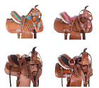 Used Trail Saddle 10 12 13 Cowboy Classic Western Show Horse Pony Leather Tack