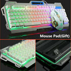 Gaming Mechanical Keyboard & Mouse Sets USB Wired Colorful Backlight PC Gamer