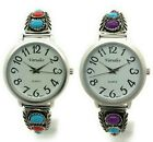 Ladies Western Turquoise Stones Stretch Elastic Band Fashion Watch Versales image