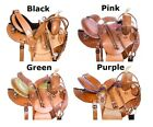 Barrel Saddle 14 Amazing Leather Racing Trail Show Western Horse Tack Set