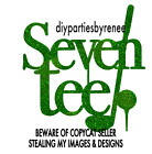 Seventy GOLF Theme Cake Topper - Assorted Colours - Tee - 70 - 70th Cake Sign