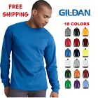 Gildan Cotton Long Sleeve T Shirt Mens Blank Casual Plain Tee Sport 5400 image