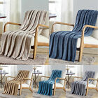 "Plazatex Sabina Embossed Geometric Pattern Soft Flannel Throw Blanket - 50x60"" image"