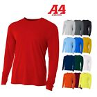 A4 Men's Moisture Wicking Tech Long Sleeve Resistant T-Shirt. N3165 UPF 44+ UV image