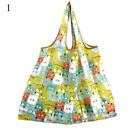 Women Foldable Recycle Reusable Cartoon Floral Vegetable Tote Bag Shopping Bag