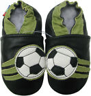carozoo soccer black outdoor rubber sole leather shoes up to 4 years old