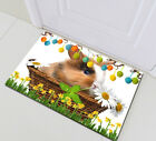 """Basket Cute Bunny Easter Eggs Waterproof Polyester Fabric Shower Curtain Set 72"""""""