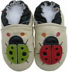 carozoo ladybug cream outdoor rubber sole leather shoes up to 4 years old