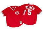 Johnny Bench 1983 Cincinnati Reds Authentic Mesh BP Jersey by Mitchell