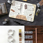 Retro Self-adhesive World Map Sticky Paper Tapes Hand Account Diy Gothic Tapes