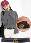 Ladies genuine leather classic and simple G pure cowhide Belts