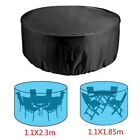 Au Outdoor Round Table Cover Patio Protection Garden Furniture Dustproof Rain