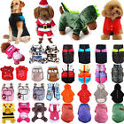 Small Dog Pet Puppy Cat Hooded Jumper Knit Sweater Clothes Coat Costume Apparel