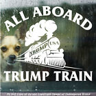 Trump All Aboard The Trump Train Great Politics Wall Republican Usa Sticker