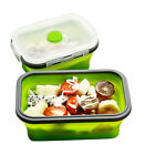 Silicone Folding Lunchbox Food-grade Kitchen Food Storage Box Microwave Lunchbox