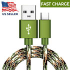 4ft,6ft,10ft Camo Tactical FAST Charger USB C Cable Type-C Sync Cord for Samsung