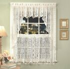 Hopewell Lace Kitchen Curtain Collection - White or Cream - NEW !