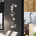 3d Mirror Flower Art Acrylic Mural Decal Removable Wall Sticker Room Decor Tools