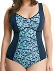 Elomi Abalone Moulded Swimsuit Costume Midnight 7080 Wire Free Moulded Cups
