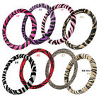 Soft Plush Safari Animal Print Protective Steering Wheel Cover for Car Truck SUV $15.28 CAD on eBay