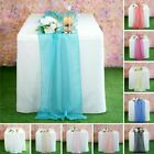 "22"" x 80"" Premium Chiffon Extra Wide Table Top Runner Wedding Party Decorations"