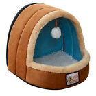 SOFT PLUSH IGLOO PET BED CAT KITTEN DOG PUPPY WARM SNUG FLEECE CAVE PAD TREE NEW