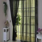 1PCS Beauty Pure Color Tulle Door Window Curtain Drape Panel Sheer Scarf Valance